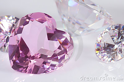 Purple hart diamond