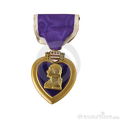 Free Purple Heart, Isolated Royalty Free Stock Images - 6495009