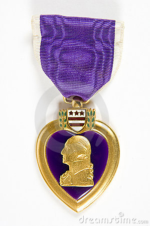 Free Purple Heart (memorial Day Series) Royalty Free Stock Photo - 741805