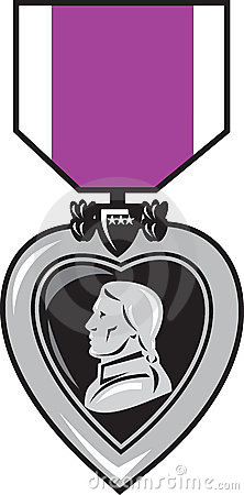Purple heat medal of bravery