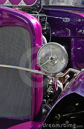 Free Purple Hot Rod Stock Photos - 2343383