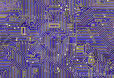 Purple industrial circuit board backdrop