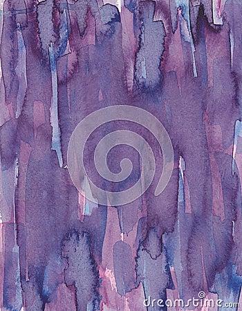 Purple ink on paper