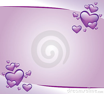 Purple invitation card