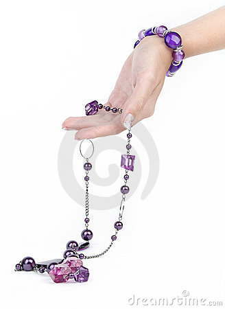 Free Purple Jewelry And Bracelet With Human Hand Stock Photography - 11288392