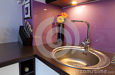 Purple kitchen detail