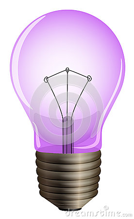 Purple Light Bulb: ,Lighting
