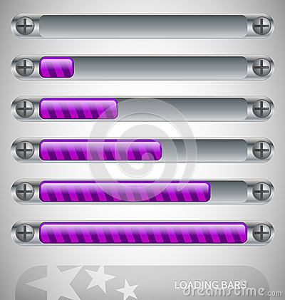 Purple Loading Bars with stripes