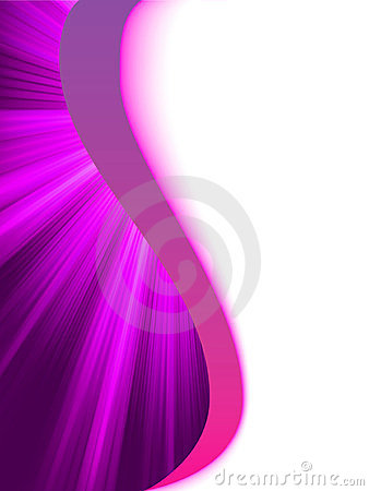 Purple luminous rays.