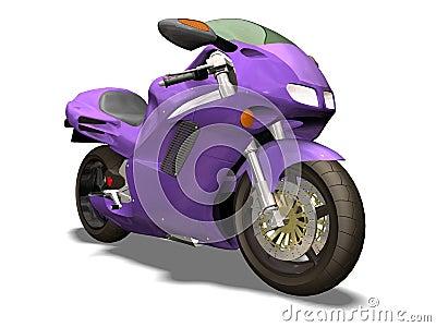 Purple motorbike
