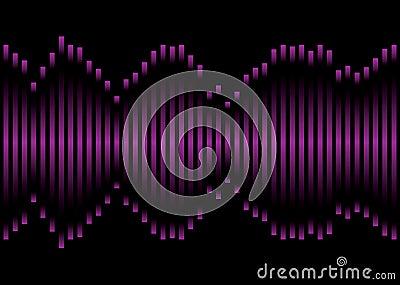 Purple music equaliser