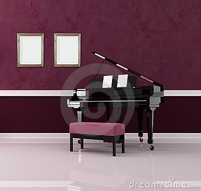 Purple music room