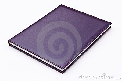 Purple notebook isolated