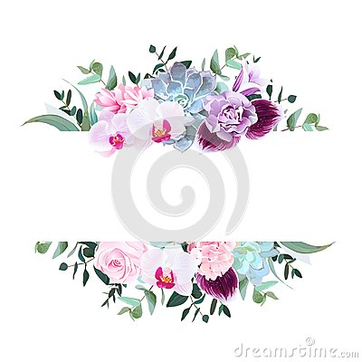 Free Purple Orchid, Pink Rose, Hydrangea, Campanula,carnation, Succul Royalty Free Stock Image - 112314086