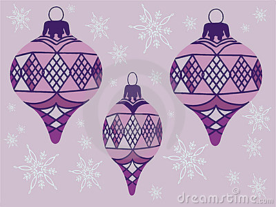 Purple ornaments Illustration