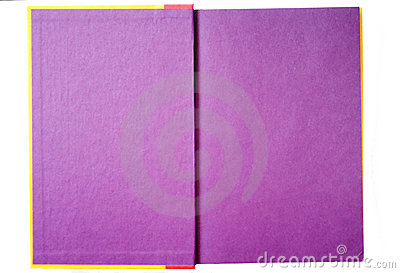 Purple Pages in a Book