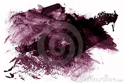 Purple paint smeared on white