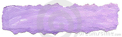 Purple paper background with torn edge