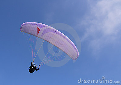 Purple paraglider