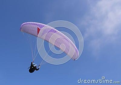 Purple paraglider