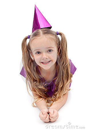 Purple party girl