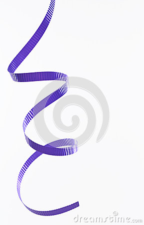 Purple party streamer