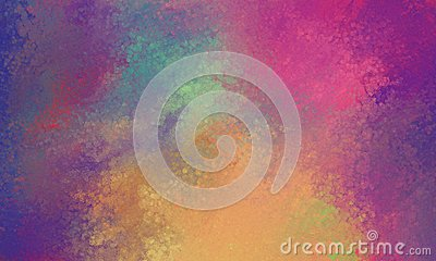Purple pink blue orange and yellow background with glassy bokeh lights texture blur Stock Photo