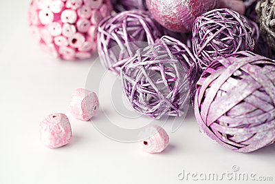 Purple and pink  objects