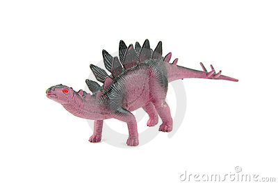 Purple plastic dinosaur toy