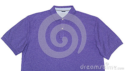 Purple Polo Shirt Isolated on White