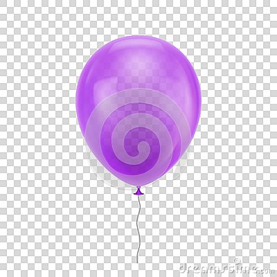 Free Purple Realistic Balloon. Royalty Free Stock Images - 102377809