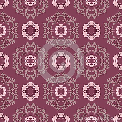 Free Purple Red Floral Seamless Pattern. Background With Flower Design Elements Royalty Free Stock Photos - 109608618