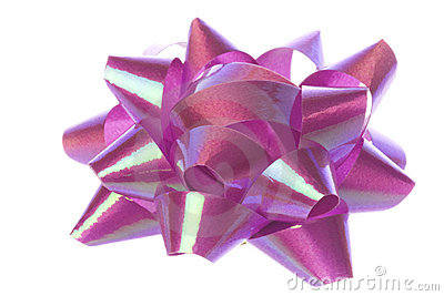 Purple Ribbon Isolated