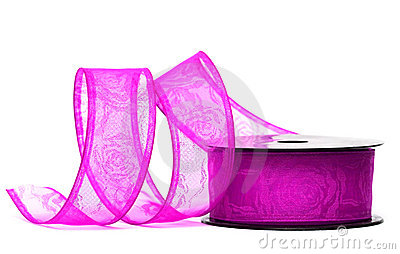 Purple ribbon on spool