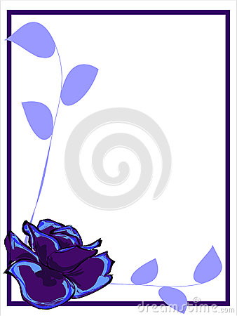Purple Rose Border