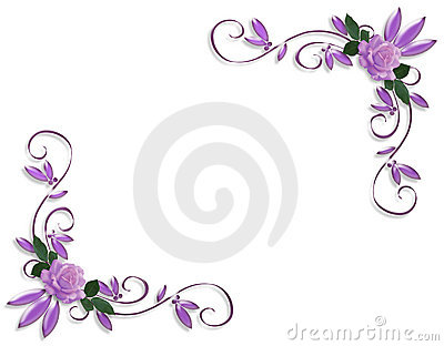Picture Rose Flower on Lavender Roses Image And Illustration Composition Design Template On