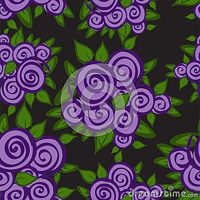 Purple roses seamless