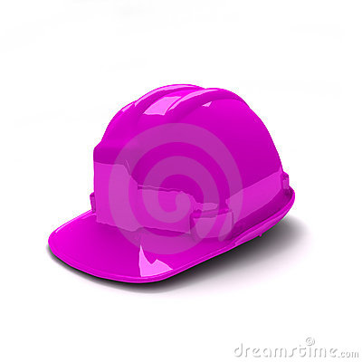 Purple safety helmet