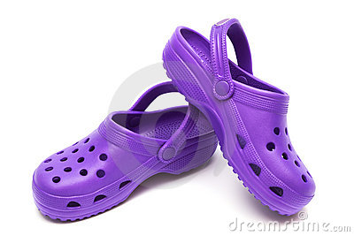 Purple sandal
