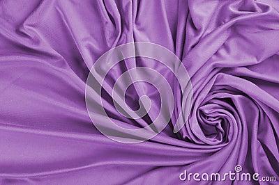 Purple satin fabric