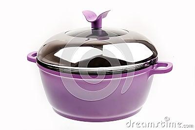 Purple saucepan