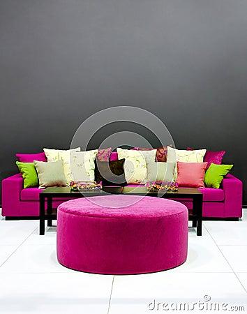 Purple settee