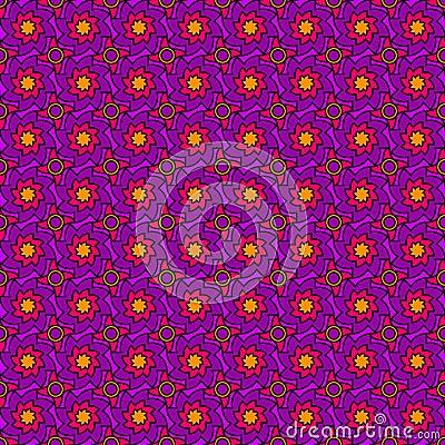 Purple Seventies Pattern
