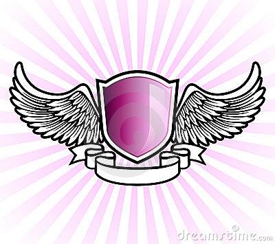 Purple shield emblem