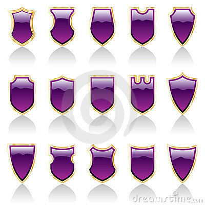 Purple shiny shields
