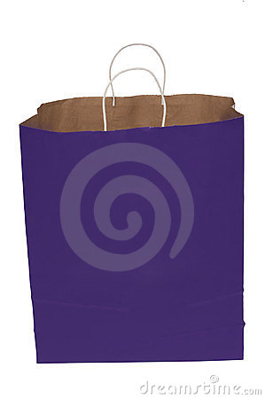 Purple Shopping Bag With Handles