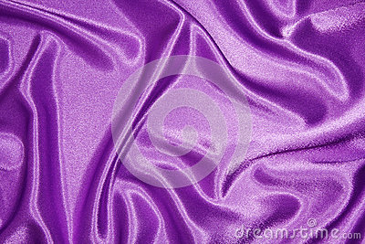 Purple silk cloth with folds