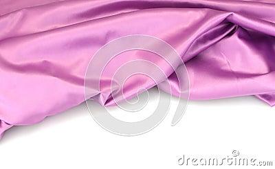 Purple silk drape