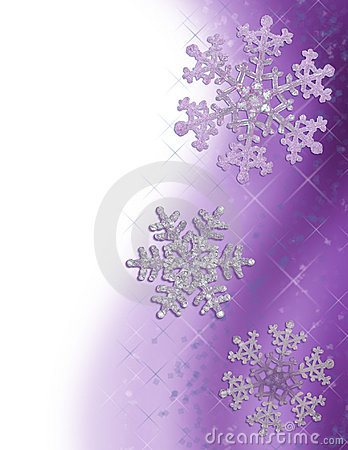 Purple Snowflake Border