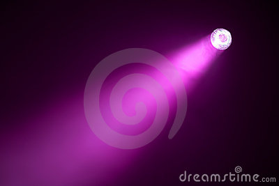 Purple spotlight
